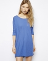 American Vintage American Vintage Flower Lake T Shirt Dress In Oversized Fit At Asos