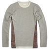 Folk X End. Panel Sweat Grey Brick Print