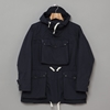 Over Parka Navy Poly Cotton Poplin 7c Oi Polloi