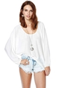 Nasty Gal Night Bells Tunic White