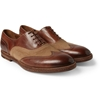 Product Paul Smith Shoes Accessories Dennis Burnished Leather And Canvas Oxford Shoes 393735 Mr Porter