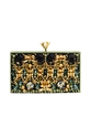 Embroidered Avoidant clutch 7c Jewellery 7c Honest by