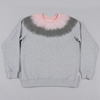 Pam Fuzz Sweat Top Grey Marle