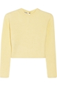 Miu Miu Cropped Ribbed Cashmere Sweater Net A Porter.Com