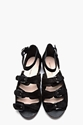 Surface To Air Black Suede Deedra Buckle Sandals for women 7c SSENSE