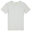 Maison Kitsune Pocket Tee Sky Stripes