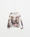 Printed Long Sleeve Sweatshirt T Shirts Trf Zara Denmark