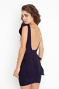 Victoria Peplum Dress Navy In What's New At Nasty Gal