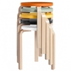Aalto stool 60 2c painted seat Stools Furniture Finnish Design Shop