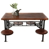 Three Potato Four Industrial Cafeteria Table 4 Seater 2f 8 Seater 2f 12 Seater