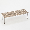 Cast Bronze Leaf Coffee Table