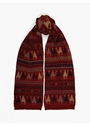 Men's Camel Rug Pattern Scarf