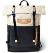 Master Piece Hedge Leather And Canvas Backpack Mr Porter