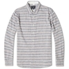 Woolrich Striped James Shirt Paper Navy