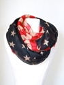 Vintage American Flag Infinity Scarf July 4Th By Lepetitmonkey