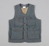 STANDARD ISSUE UTILITY VEST 2c CHAMBRAY 3a 3a HICKOREE 27S HARD GOODS