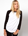 ASOS 7c ASOS Colour Block Baseball Top at ASOS