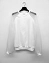 Sweater with organza sleeves 7c Ayzit Bostan