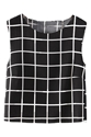 Romwe Check Blackless Black Vest The Latest Street Fashion