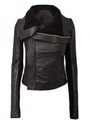 Rick Owens Classic Leather Biker Jacket Black