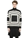 Alexander Mcqueen Square Motif Wool Sweater Luisaviaroma Luxury Shopping Worldwide Shipping Florence