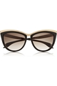 Alexander Mcqueen Cat Eye Acetate And Metal Sunglasses Net A Porter.Com