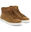 Gianvito Rossi Brady High Top Suede And Leather Sneakers