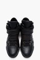 Givenchy Black Leather Velcro Strap Mid Top Sneakers for men