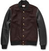 Club Monaco Leather And Wool Blend Bomber Jacket Mr Porter