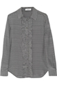 Equipment Blake Houndstooth Washed Silk Shirt Net A Porter.Com
