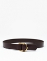 Double Ring Belt In Brown