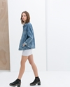 Oversize Denim Jacket Trf Outerwear Woman Zara United States