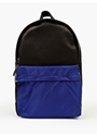 Men's Black Bay Leather Nylon Backpack