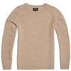 Beams Plus Crew Neck Knit Beige