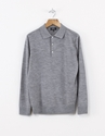 A.P.C. Italian Polo Col. Sweat Lt Grey Nitty Gritty Store