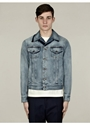Maison Martin Margiela Men 27s Contrast Blue Denim Jacket 7c oki ni