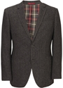 Chocolate Herringbone Tweed Jacket Formal Jackets Austin Reed