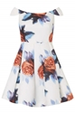 Digital Floral Print Bardot Dress Topshop