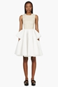 Simone Rocha Peach Organza Neoprene Two Tone Dress For Women Ssense