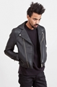 Acne Gibson Leather Jacket Black 7c TR c3 88S BIEN