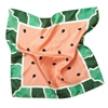 P Johnson Tailors Watermelon Print Silk Pocket Square
