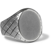 Bottega Veneta Engraved Sterling Silver Signet Ring Mr Porter