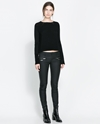 Coated Trousers With Zips Skinny Trousers Woman Zara United Kingdom