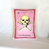 Calavera Skull Loteria Pillow Cover With Zipper By Pillowandpocket