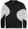Neil Barrett Striped Cotton Blend Jersey Sweatshirt Mr Porter