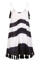 Black White Tassel Hem Dress Dresses Clothing Topshop