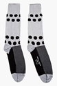 Comme Des Garcons Homme Plus Grey Polka Dot Tall Socks For Men Ssense