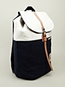 Master piece Half and Half Backpack in navy at oki ni