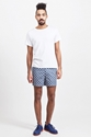Carven Kaleidoscope Cotton Shorts Navy 7c TR c3 88S BIEN SHOP