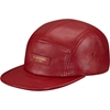 Supreme 3a Leather Camp Cap Red